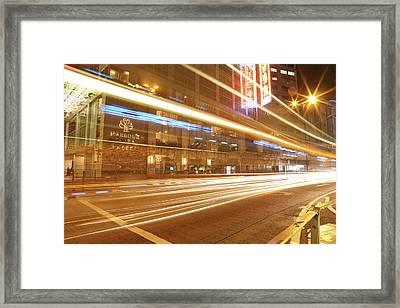 Light Line Framed Print by Hyuntae Kim