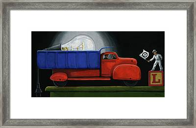 Light Load - Narrative Painting Framed Print