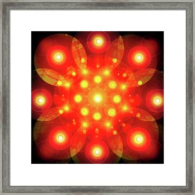 Light-mandala No. 02 Framed Print