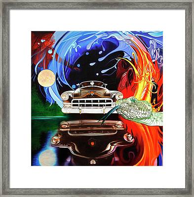 Light My Fire On A Moonlight Drive To The End Framed Print by Joshua Morton