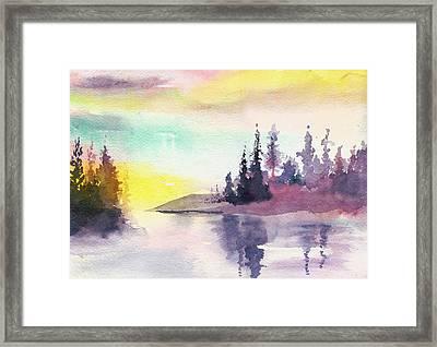 Light N River Framed Print by Anil Nene