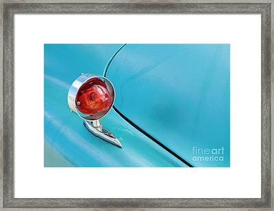 Light Of A Classic American Car Framed Print by Sami Sarkis