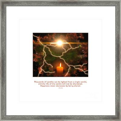 Framed Print featuring the photograph Light Of A Single Candle by Kristen Fox