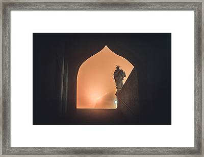 Light Of Cathedral Framed Print by Jenny Rainbow