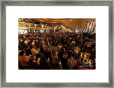 Framed Print featuring the photograph Light Of Christmas by Anthony Baatz