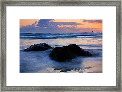 Light Of Dusk Framed Print by Mike  Dawson