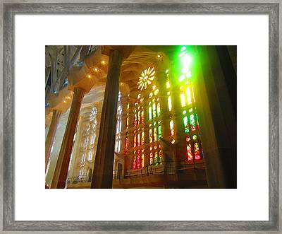 Light Of Gaudi Framed Print