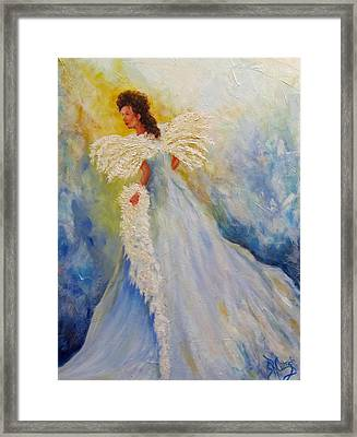 Light Of Grace,angel Framed Print