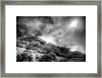 Light Of Hope On Craggy Dome Framed Print by Dan Carmichael
