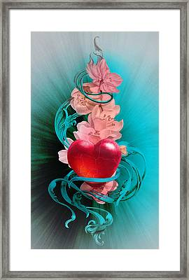 Light Of Loving Heart Framed Print by Irina Effa