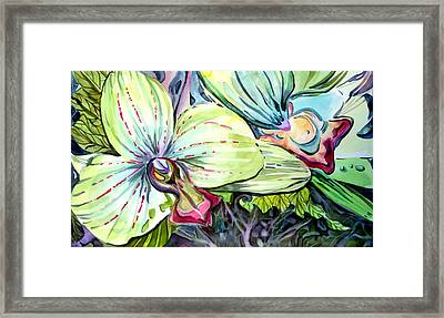 Light Of Orchids Framed Print by Mindy Newman