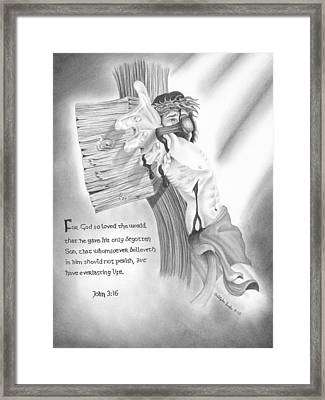Light Of Salvation Framed Print by Christopher Brooks