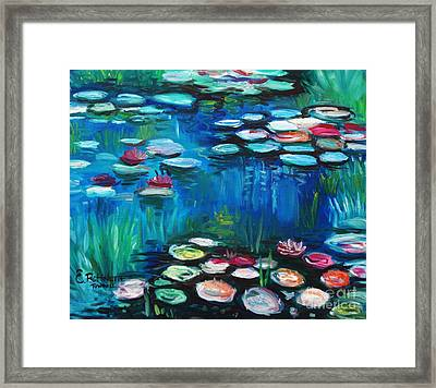 Light Of The Lillies Framed Print by Elizabeth Robinette Tyndall