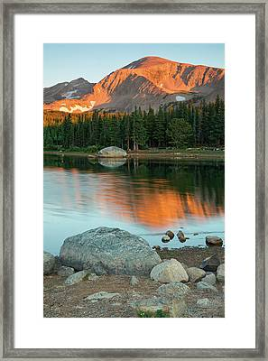 Light Of The Mountain Framed Print by John De Bord