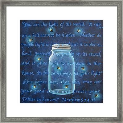 Light Of The World Fireflies Framed Print