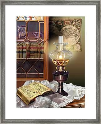 Light Of Wisdom Framed Print by Regina Femrite