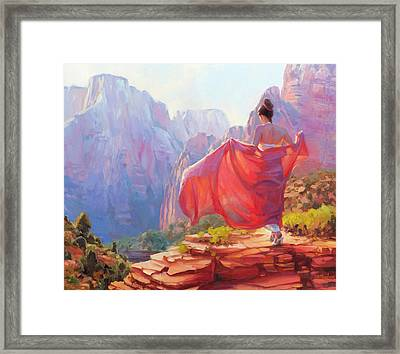 Light Of Zion Framed Print by Steve Henderson