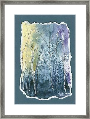 Light On Bare Trees 2 Framed Print