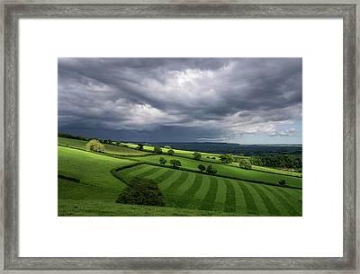 Light On Mid Devon Hills Framed Print by Pete Hemington