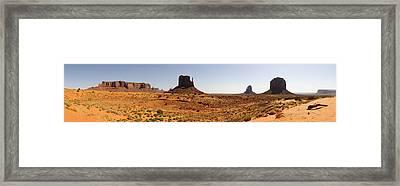 Light On Monument Valley  Framed Print