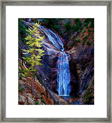 Light On Seven Falls Framed Print