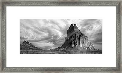 Framed Print featuring the photograph Light On Shiprock by Jon Glaser