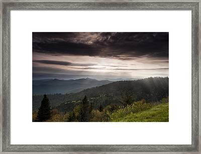 Light On The Blue Ridge Framed Print by Andrew Soundarajan