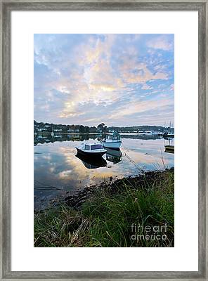 Light On The Boats Framed Print