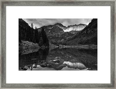 Light On The Mountains Framed Print by Thomas Schoeller