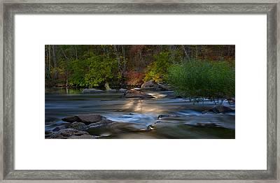 Light On The River Framed Print