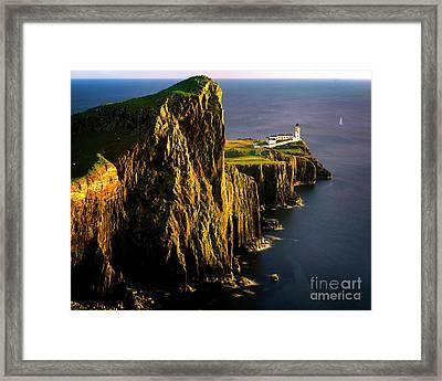 Light On The Rock Framed Print