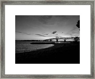 Light Over Bridge Framed Print