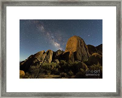 Light Painted Rocks In The Hills Framed Print by Mimi Ditchie
