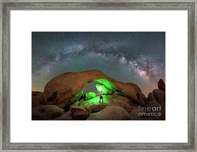 Light Painting Arch Rock Framed Print