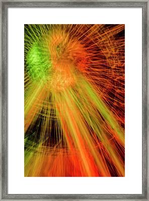 Light Painting At Night Framed Print