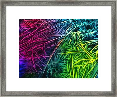 Light Painting Colors Abstract Experimental Chemiluminescent Photography Framed Print