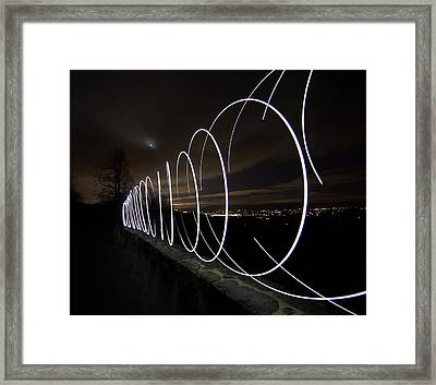 Light Painting In Snp Framed Print by Shannon Louder