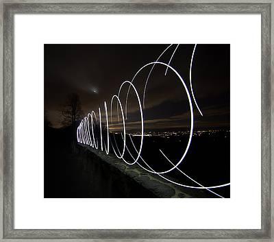 Light Painting In Snp Framed Print