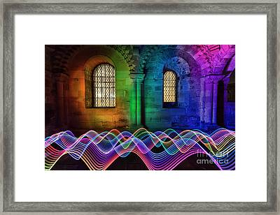 Light Painting In The Castle Framed Print by Ray Pritchard