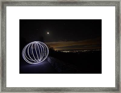 Light Painting On Skyline Drive Framed Print