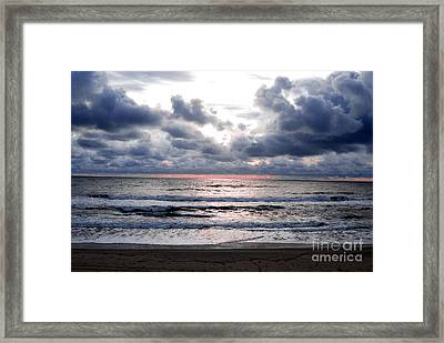 Light Parting The Darkness Framed Print by Linda Mesibov
