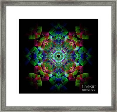 Light Pattern Framed Print