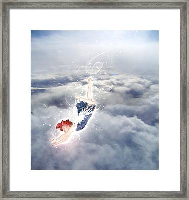 Light Play Angels Descent Framed Print