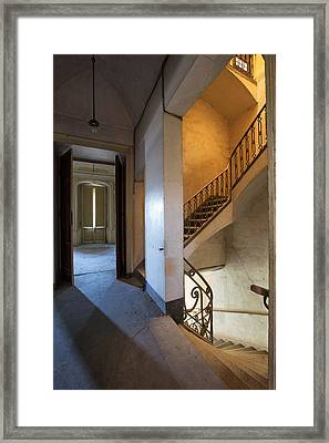 Light Play In The Stairway - Abandoned Building Framed Print by Dirk Ercken