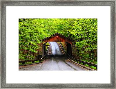 Light Rain On Pierce Stocking Drive 2 Framed Print by Rachel Cohen