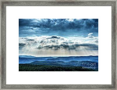 Framed Print featuring the photograph Light Rains Down by Thomas R Fletcher