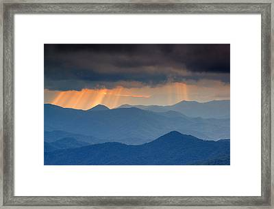 Light Rays On The Blue Ridge Parkway Framed Print