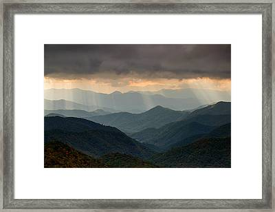 Light Rays On The Parkway Framed Print