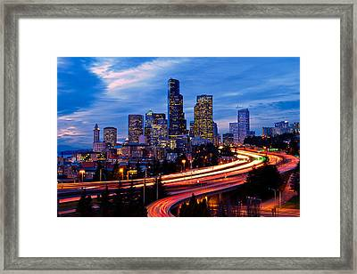 Light Ribbons Framed Print by Dan Mihai