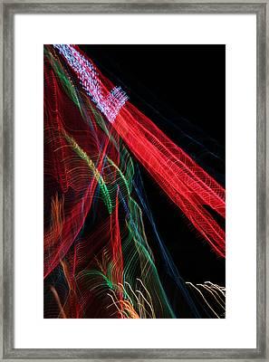 Light Ribbons Framed Print